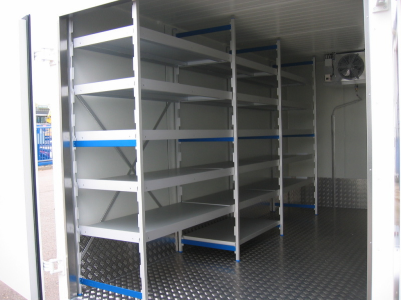 Catering interior construction with rack system (optional)